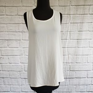 Gibson Lace Back Woven Tank Top Size Small
